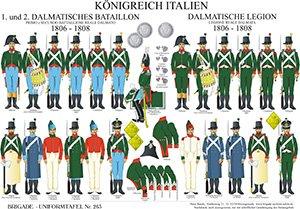Tafel 263: Königreich Italien: 1. und 2. Dalmatisches Bataillon/ Dalmatische Legion 1806-1808