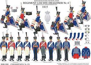 Tafel 131: Königreich der Niederlande: Leichtes Dragoner-Regiment No.4 1815
