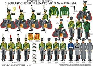 Tafel 164: Königreich Preußen: Husaren-Regiment No.6 (2. Schlesisches) 1810-1814