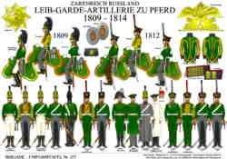 Tafel 377: Zarenreich Russland: Leib-Garde-Artillerie zu Pferd 1809-1814