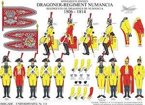 Tafel 111: Königreich Spanien: Dragoner-Regiment Numancia 1805-1814