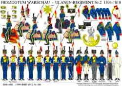 Tafel 359: Herzogtum Warschau: Ulanen-Regiment Nr.2 1808-1810