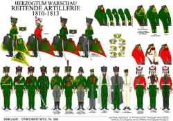 Tafel 348: Herzogtum Warschau: Reitende Artillerie 1810-1813