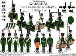 Tafel 47: Herzogtum Warschau: 5. Chasseurs à Cheval 1809-1813