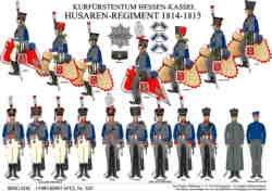 Tafel 352: Kurfürstentum Hessen-Kassel: Husaren-Regiment 1814-1815