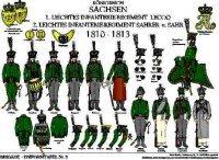 Tafel 2: Königreich Sachsen: Leichte Infanterie-Regimenter 1810-1813