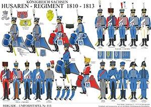 Tafel 215: Königreich Sachsen: Husaren-Regiment 1810-1813