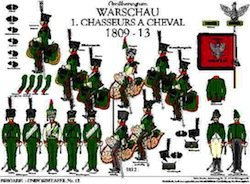 Tafel 12: Herzogtum Warschau: 1. Chasseurs à Cheval 1809-1812