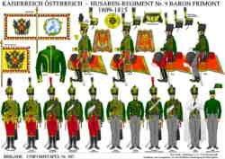Tafel 367: Kaiserreich Österreich: Husaren-Regiment Nr.9 Baron Frimont 1809-1815