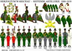 Tafel 347: Herzogtum Warschau: Reitende Artillerie 1808-1810