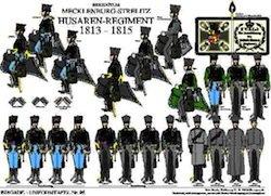 Tafel 96: Herzogtum Mecklenburg-Strelitz: Husaren-Regiment 1813-1815