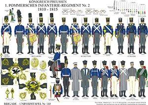 Tafel 142: Königreich Preußen: 1. Pommersches Infanterie-Regiment No.2 1810-1815