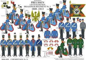 Tafel 72: Königreich Preußen: Litthauisches Dragoner-Regiment Nr.3 1808-1813