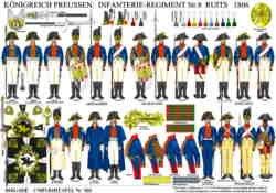 Tafel 369: Königreich Preussen: Infanterie-Regiment Nr.8 Ruits 1806