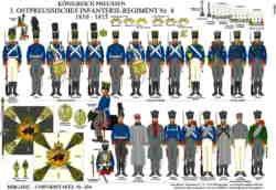 Tafel 354: Königreich Preußen: 3. Ostpreußisches Infanterie-Regiment Nr.4 1810-1015