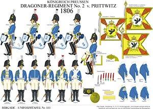 Tafel 101: Königreich Preußen: Dragoner-Regiment No.2 v. Prittwitz 1806