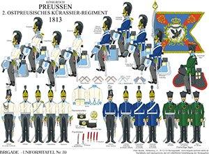 Tafel 59: Königreich Preußen: Ostpreußisches Kürassier-Regiment Nr.2 1813