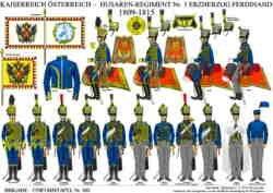 Tafel 383: Kaiserreich Österreich: Husaren-Regiment Nr.3 Erzherzog Ferdinand 1809-1815