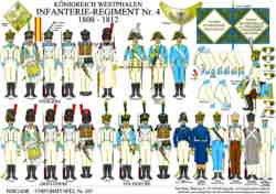 Tafel 357: Königreich Westphalen: Infanterie-Regiment Nr.4 1808-1812