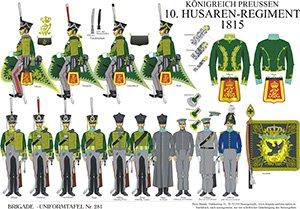 Tafel 281: Königreich Preußen: 10. Husaren-Regiment 1815