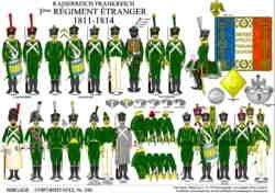 Tafel 342: Kaiserreich Frankreich: 3. Régiment étranger 1811-1814