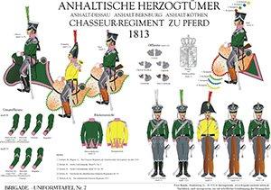 Tafel 7: Anhaltische Herzogtümer: Regiment Chevaulegers 1813