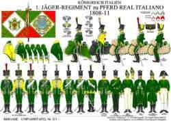 Tafel 371: Königreich Italien: 1. Jäger-Regiment zu Pferd Real Italiano 1808-1811