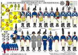Tafel 337: Großherzogtum Baden: Leib-Infanterie-Regiment Nr.1 Großherzog 1810-1812