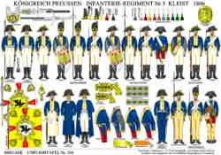 Tafel 356: Königreich Preussen: Infanterie-Regiment Nr.5 Kleist 1806