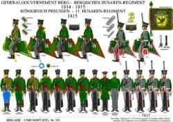 Tafel 351: Berg: Husaren-Regiment 1814 / Königreich Preussen: 11. Husaren-Regiment 1815