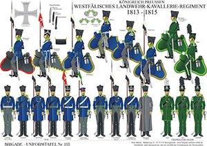 Tafel 253: Königreich Preußen: Westfälisches Landwehr-Kavallerie-Regiment 1813-1815