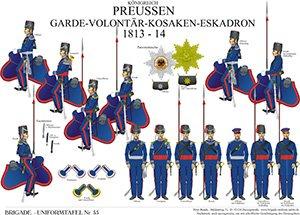 Tafel 55: Königreich Preußen: Garde-Volontär-Kosaken 1813-1814