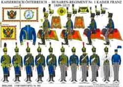 Tafel 363: Kaiserreich Österreich: Husaren-Regiment Nr.1 Kaiser Franz 1809-1815