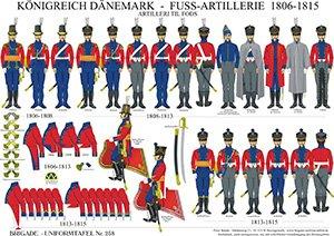 Tafel 258: Königreich Dänemark: Fuß-Artillerie 1806-15