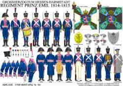 Tafel 381: Großherzogtum Hessen-Darmstadt: Regiment Prinz Emil 1814-1815