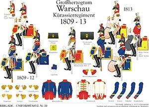 Tafel 30: Herzogtum Warschau: Kürassier-Regiment 1809-1813