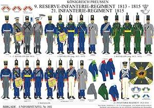 Tafel 203: Königreich Preußen: 9. Reserve-Infanterie-Regiment 1813-1815