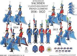 Tafel 14: Königreich Sachsen: Ulanen-Regiment Prinz Clemens 1813-1815
