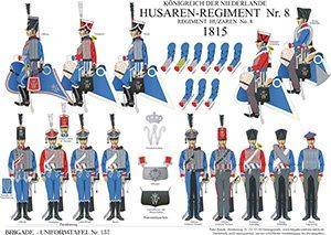 Tafel 137: Königreich der Niederlande: Husaren-Regiment No.8 1815
