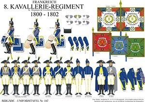 Tafel 197: Frankreich: 8. Régiment Cavalerie-Cuirassiers 1800-1802