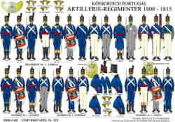 Tafel 379: Königreich Portugal: Artillerie-Regimenter 1808-1815