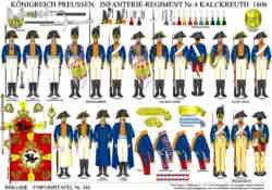 Tafel 343: Königreich Preussen: Infanterie-Regiment Nr.4 Kalckreuth 1806