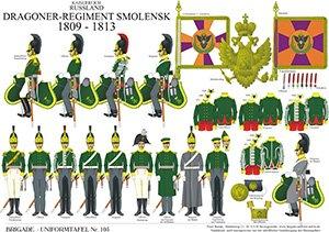 Tafel 105: Kaiserreich Russland: Dragoner-Regiment Smolensk 1809-1813