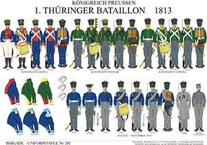 Tafel 287: Königreich Preußen: 1. Thüringer Bataillon 1813