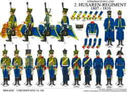 Tafel 328: Königreich Holland: 2. Husaren-Regiment 1808-1810