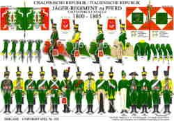 Tafel 370: Cisalpinische Republik/Italienische Republik: Jäger-Regiment zu Pferd 1800-1805