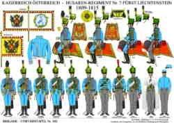 Tafel 382: Kaiserreich Österreich: Husaren-Regiment Nr.7 Fürst Liechtenstein 1809-1815