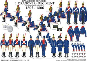 Tafel 177: Batavische Republik: 1. Dragoner-Regiment: 1805-1806