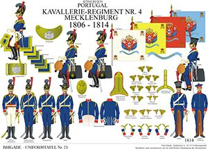 Tafel 75: Königreich Portugal: Kavallerie-Regiment No.4 Mecklemburg 1806-1814