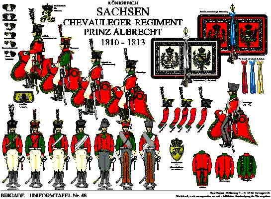 Tafel 48: Königreich Sachsen: Chevauleger-Regiment Prinz Albrecht 1810-1813